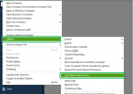 How to open a company file located on a remote computer in quickbooks?