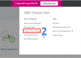 How do I change the template on invoices in QuickBooks?